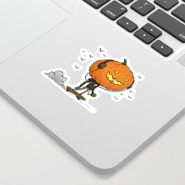 The Skater Pumpkin Sticker