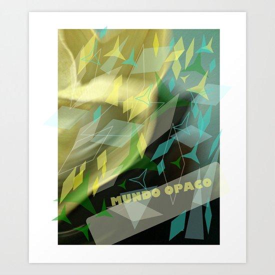 Opaque world: garment in the air. Art Print