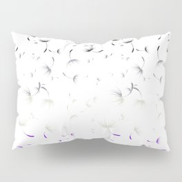 Dandelion Seeds Asexual Pride (white background) Pillow Sham