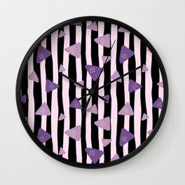Triangle Stripes Wall Clock
