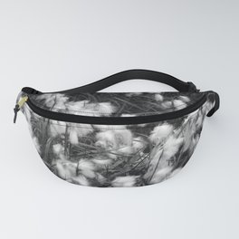 Blooming White Cottongrass Alpine Flowers Fanny Pack