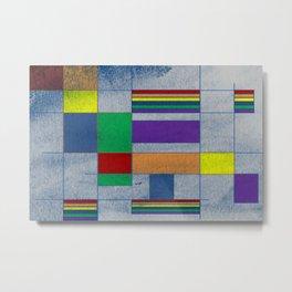 Mid-Century Modern Art - Rainbow Pride 1.0 Metal Print