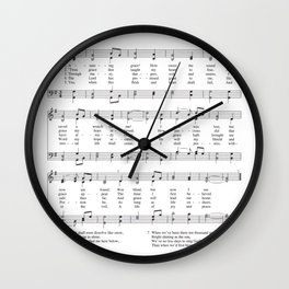 Hymn - Amazing Grace Wall Clock