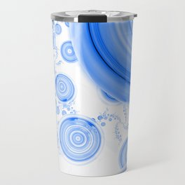 Baby Blue Bubbles in an Ozone Sky of Cloudy White Travel Mug