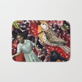 Happy Bird day   Collage Bath Mat