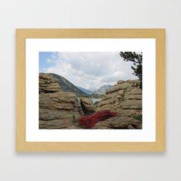 on belay? Framed Art Print