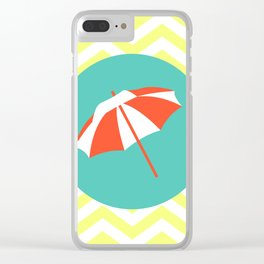 Beach Umbrella - Cute Summer Accessories Collection Clear iPhone Case