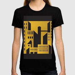 Golden city art deco T-shirt