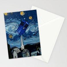 starry night tardis Stationery Cards