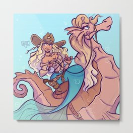 western mermaid Metal Print