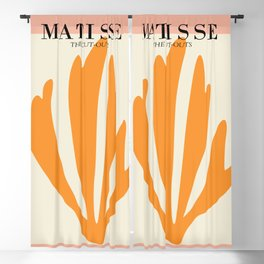 Henri matisse the cut outs contemporary, modern minimal art Blackout Curtain