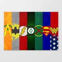 justice league Canvas Prints featuring Justice League of America by Some_Designs