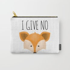I Give No Fox Carry-All Pouch