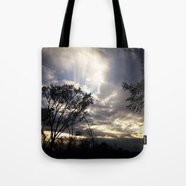 Peaceful and powerful sunset Tote Bag
