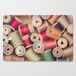 vintage spools Cutting Board