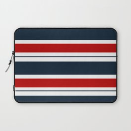Red, White, and Blue Horizontal Striped Laptop Sleeve