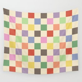 Colorful Checkered Pattern Wall Tapestry