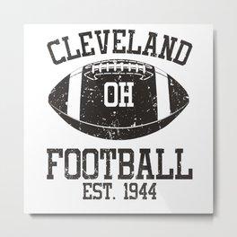 Cleveland Football Fan Gift Present Idea Metal Print