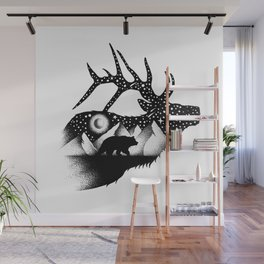 THE ELK AND THE BEAR Wall Mural