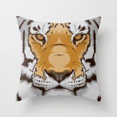 Tiger OW Throw Pillow
