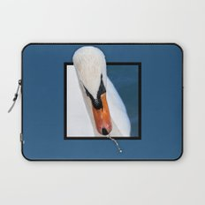 Swan with 3D pop out of frame effect Laptop Sleeve