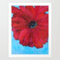 Red Fleur  Art Print