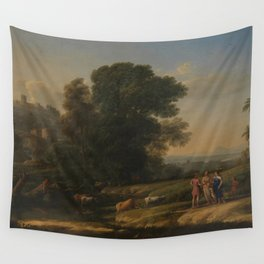 Landscape with Cephalus and Procris reunited by Diana - Claude Wall Tapestry