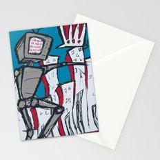 Manhattan vs. Depressed Giant Robot Stationery Cards