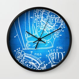 Baseball Glove Patent Blueprint Drawing Wall Clock