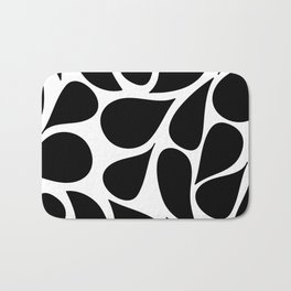 Abstract Black & White Foliage Pattern - Mix and Match with Simplicity of Life Bath Mat