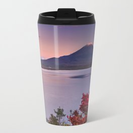 I - Last light on Mount Fuji and Lake Motosu, Japan Travel Mug