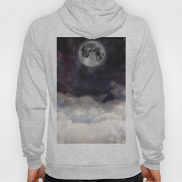 the moon on space sky Hoody