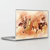 airbender Laptop & iPad Skins featuring Team Avatar by TiuanaRui