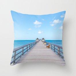 On the Pier Throw Pillow