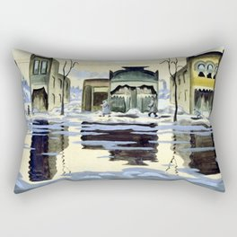 Charles Burchfield February Thaw Rectangular Pillow