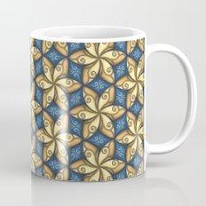 Flower Pattern Yellow/Blue Mug