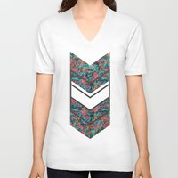 tropical V-neck T-shirts featuring TROPICAL by gasponce