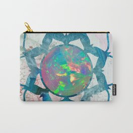 Psychedelic Crystal Lotus 2 Carry-All Pouch