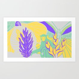 Jungle Fly >3< Art Print