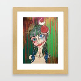 I should live in salt for leaving you (New Orleans Harley Quinn) Framed Art Print