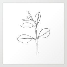 """Botanical Collection"" -  Plant Brach Art Print"