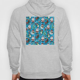 Santa Claus, Snowmen, Reindeer and Christmas Trees Pattern Hoody