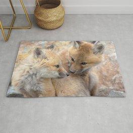 Watercolor Fox, Red Fox 51, Union Reservoir, Boulder Rug