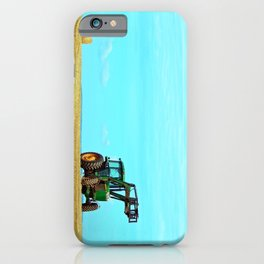 Tractor and Hay Roll on the Ridge iPhone Case