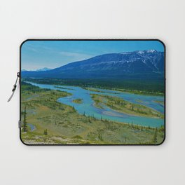 Looking over the Athabasca River on the east end of Jasper National Park, Canada Laptop Sleeve
