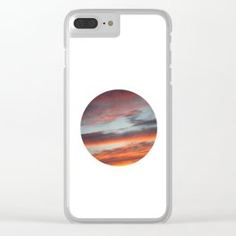 Berkshire Sunset I Circle Clear iPhone Case