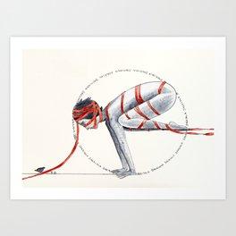 Bakasana Art Print