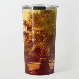 palm tree on a sunny day, toning Travel Mug