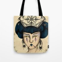 asia Tote Bags featuring Asia by Pri Floriano