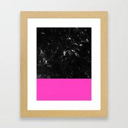 Pink Meets Black Marble #1 #decor #art #society6 Framed Art Print